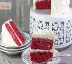 طرز تهیه و تزئین کیک ردولوت (مخمل قرمز)