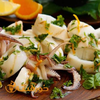غذای دریایی لیمون