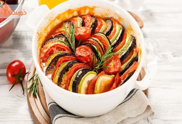 خوراک راتاتویی(خوراک سبزیجات فرنسوی)