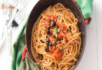 تهيه اسپاگتي لومين(غذای گیاهی برای کودکان)