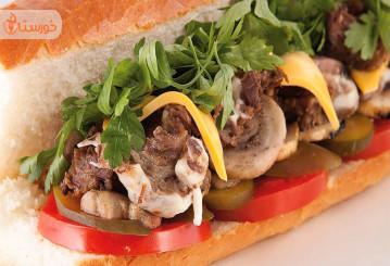 تهیه ساندویچ زبان چرب و خوشمزه