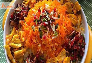 طرز تهیه هویج پلو ساده با مرغ
