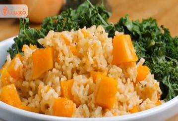 طرز تهیه کدو حلوایی با برنج